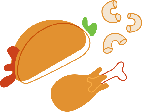 cooked meal illustration