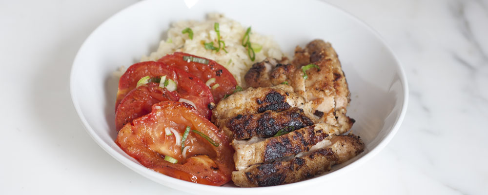 Crispy Chicken Cutlets with Seared Tomatoes